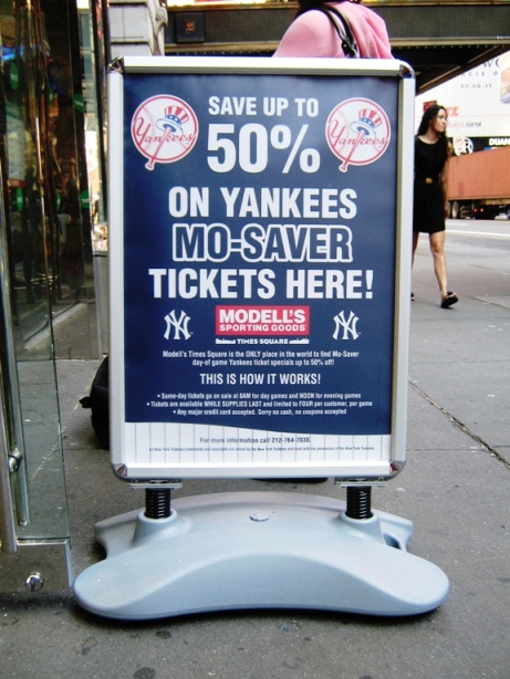 modells yankees tickets