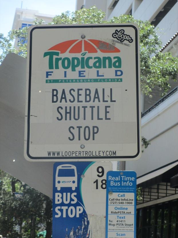 tropicana field shuttle