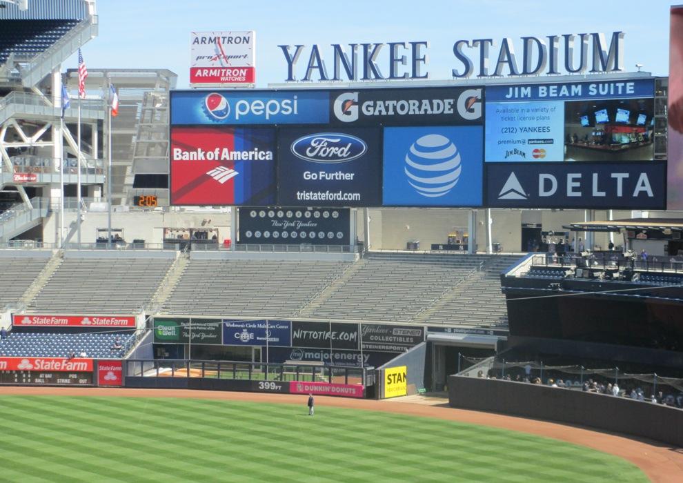 bleachers yankee stadium shade
