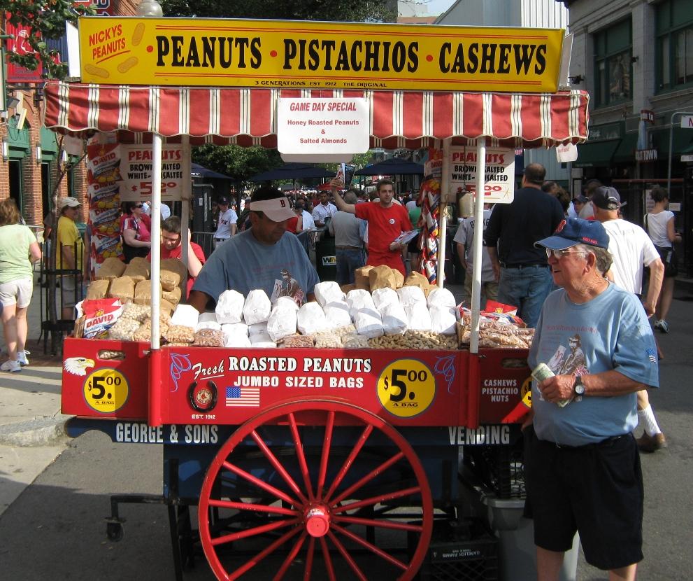fenway park food peanuts