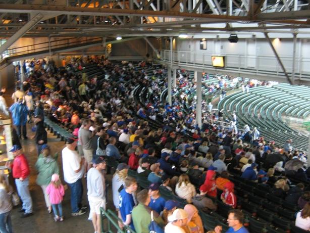 wrigley field seating standing room