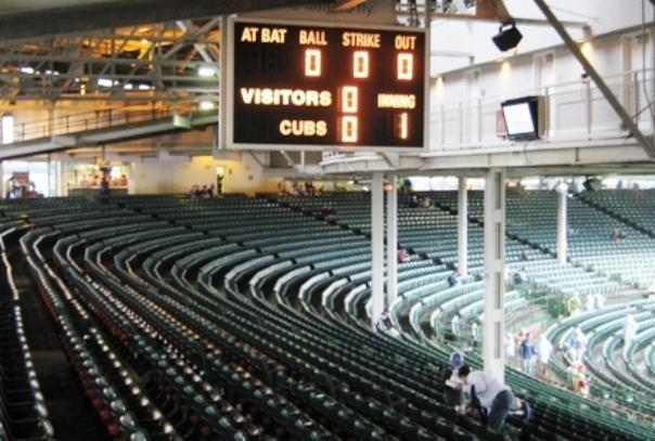 scoreboard wrigley field
