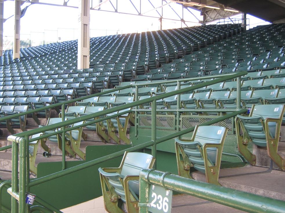 Terrace seats wrigley