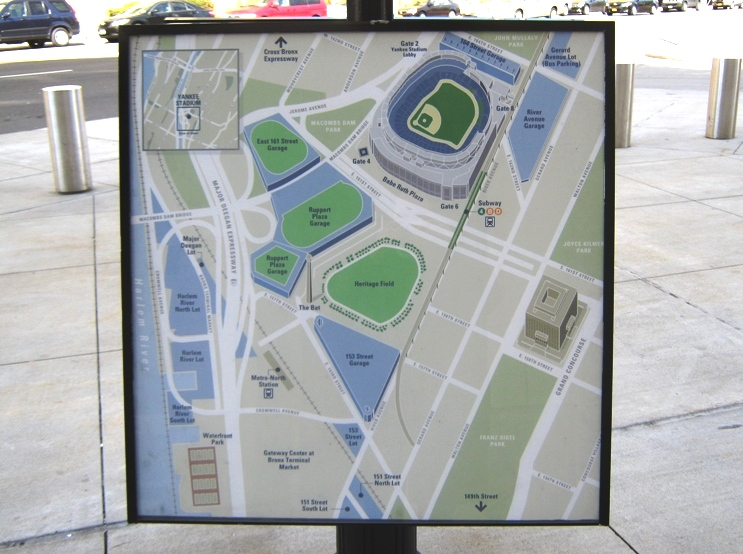 yankee stadium parking map