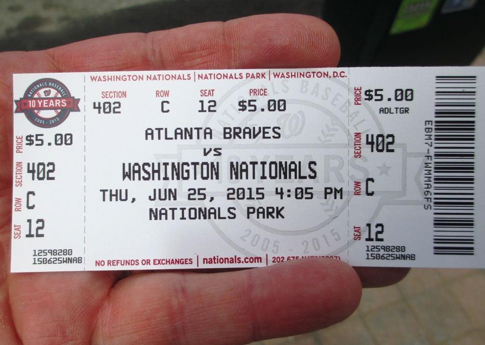 five dollar nationals tickets