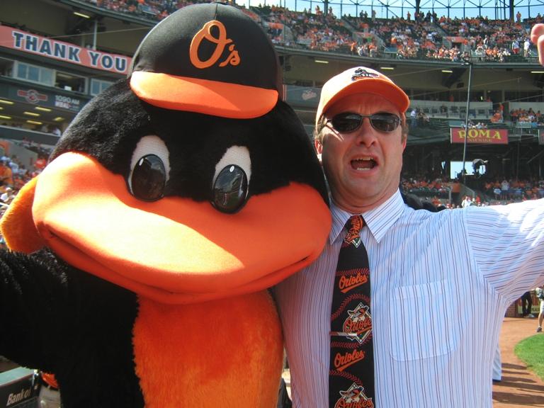 Oriole bird mascot