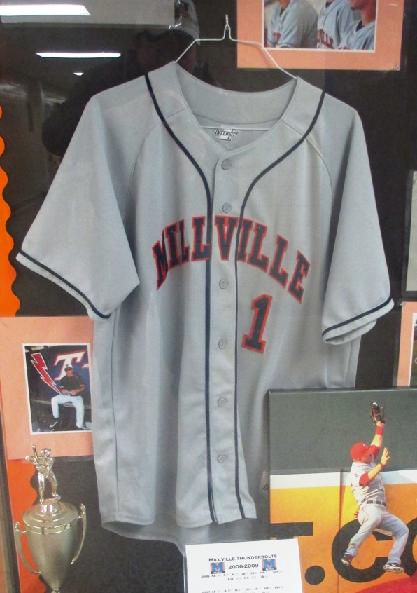 mike trout no. 1 jersey millville
