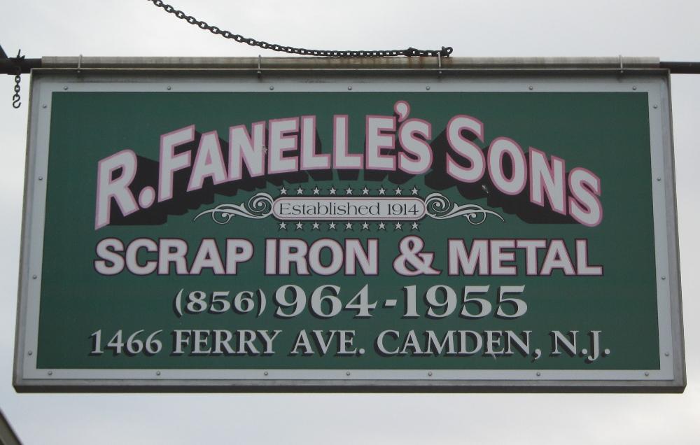 R Fanelles Sons Sign