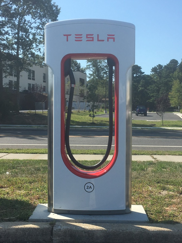 tesla car charger cape may court house