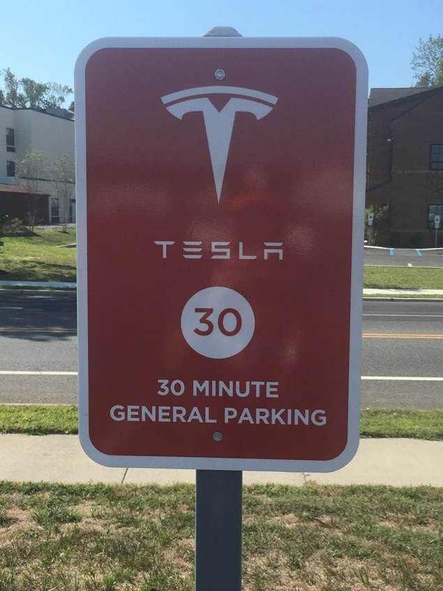tesla parking station