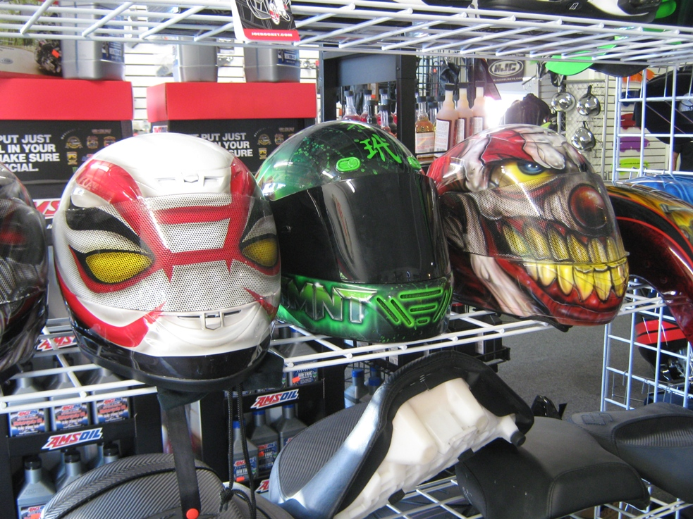 tricked out custom cycles helmets