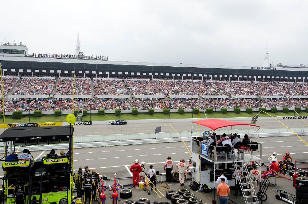 Pocono raceway front stretch