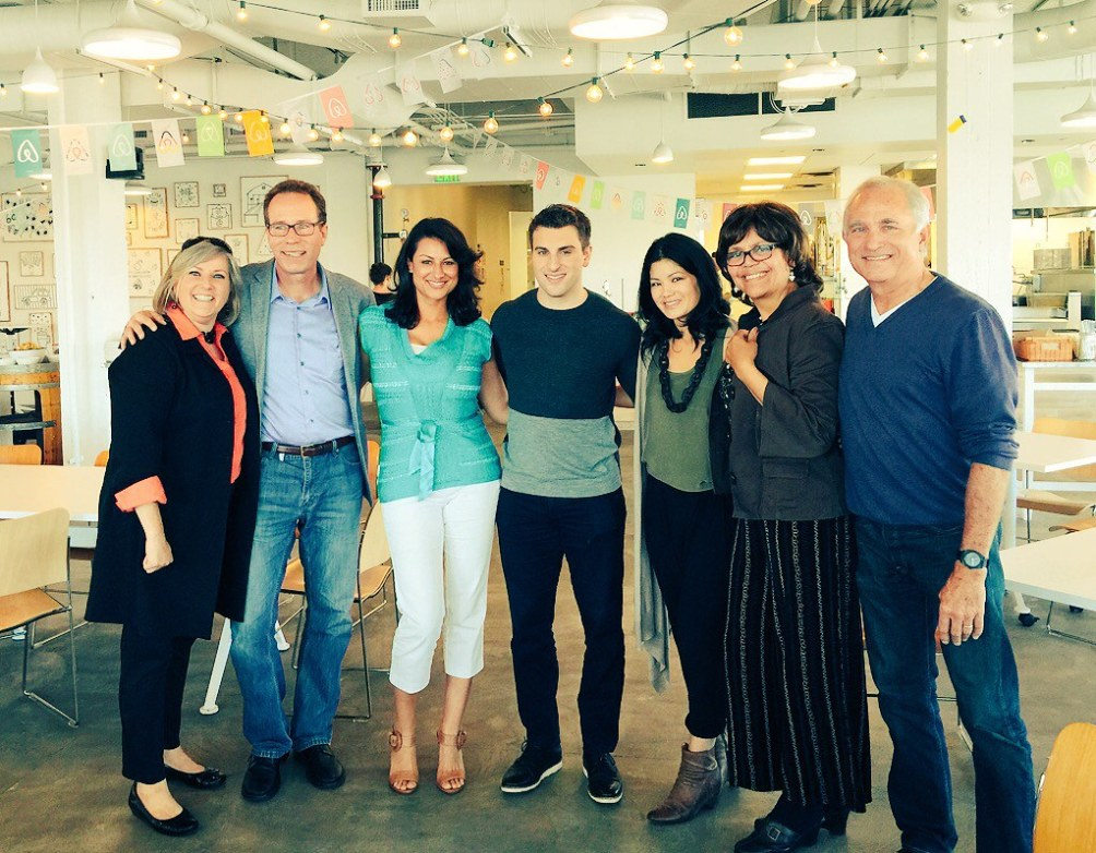 brian chesky with hosts