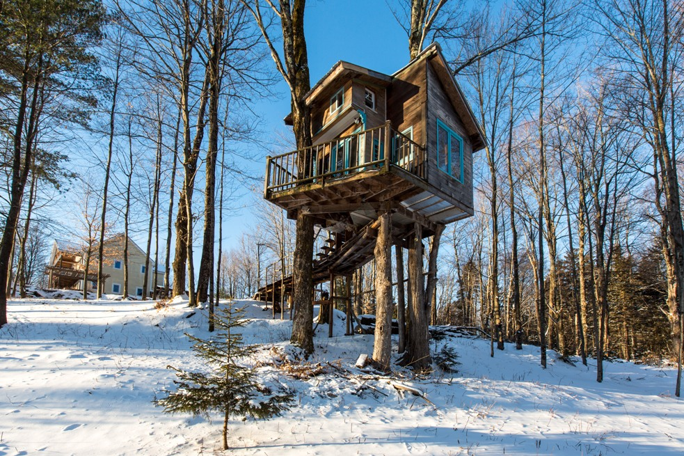 airbnb treehouse vt